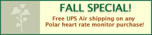 Fall Special! FREE UPS Air Shipping!