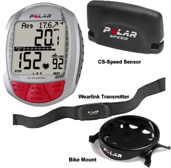 Polar CS200 & CS200CAD Cycling Computer - Heart Rate Monitor